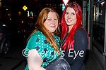 Enjoying the evening in Listowel on Thursday, l to r: Margaret Scanlon Barrett (Listowel) and Katle Clarke (Tralee).