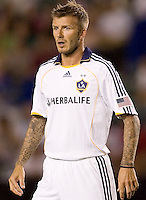 LA Galaxy midfielder David Beckham's waits patiently. The LA Galaxy defeated Chivas USA 1-0 to win the final edition of the 2009 SuperClásico at Home Depot Center stadium in Carson, California on Saturday, August 29, 2009...