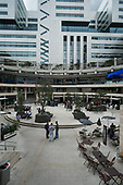 Broadgate Circus, part of the privately owned and managed public realm around Liverpool Street station, London.