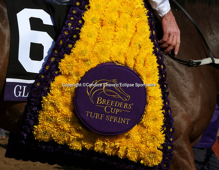November 7, 2020 : Glass Slippers, ridden by Tom Eaves, wins the Turf Sprint on Breeders' Cup Championship Saturday at Keeneland Race Course in Lexington, Kentucky on November 7, 2020. Candice Chavez/Breeders' Cup/Eclipse Sportswire/CSM