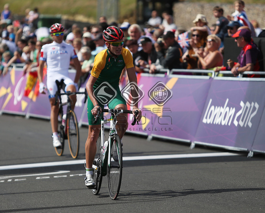 Michael Gallagher (AUS), Men's Individual C 4-5 Road Racel.<br /> Cycling Road, Brands Hatch (Wednesday 5th Sept)<br /> Paralympics - Summer / London 2012<br /> London England 29 Aug - 9 Sept <br /> © Sport the library/Joseph Johnson