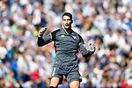Sevilla FC's Sergio Rico celebrates goal during La Liga match. October 15,2016. (ALTERPHOTOS/Acero)