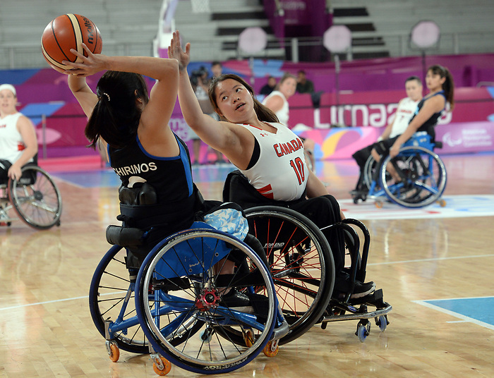 Puisand Lai, Lima 2019 - Wheelchair Basketball // Basketball en fauteuil roulant.<br /> Women's wheelchair basketball competes against Argentina // Le basketball en fauteuil roulant féminin contre Argentine. 25/08/2019.