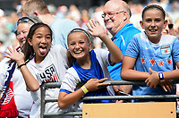 Seattle, WA - Thursday July 27, 2017: USA supporters during a 2017 Tournament of Nations match between the women's national teams of the Japan (JAP) and Brazil (BRA) at CenturyLink Field.