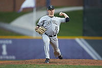 Campbell Camels relief pitcher Phil Simpson (10) in action against the High Point Panthers at Williard Stadium on March 16, 2019 in  Winston-Salem, North Carolina. The Camels defeated the Panthers 13-8. (Brian Westerholt/Four Seam Images)