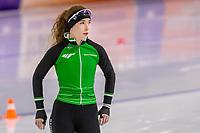 28th December 2020; Thialf Ice Stadium, Heerenveen, Netherlands; World Championship Speed Skating;  500m ladies, Michelle de Jong during the WKKT