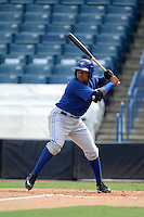 Toronto Blue Jays catcher Adaric Kelly during an Instructional League game against the New York Yankees on September 24, 2014 at George M. Steinbrenner Field in Tampa, Florida.  (Mike Janes/Four Seam Images)
