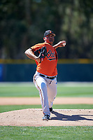 Baltimore Orioles pitcher Brian Gonzalez (68) delivers a pitch during a minor league Spring Training game against the Boston Red Sox on March 16, 2017 at the Buck O'Neil Baseball Complex in Sarasota, Florida.  (Mike Janes/Four Seam Images)