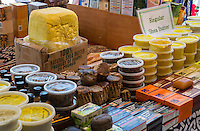 French Quarter, New Orleans, Louisiana.  African Shea Butter and Soaps for Sale in the French Market.