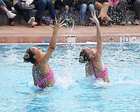 Stanford, CA; Saturday February 11, 2012: Synchronized Swimming, Stanford vs Incarnate Word.<br /> Stanford Duet 3: Alex Bollaidlaw, Kimko Urata.