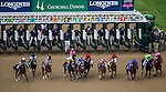 MAY 2, 2014: The field runs out of the gate at the start of the Kentucky Oaks Stakes at Churchill Downs in Lexington, KY. Jon Durr/ESW/CSM