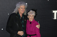 Bryan May & Anita Dobson attend the STAR WARS: 'The Force Awakens' EUROPEAN PREMIERE at Odeon, Empire & Vue Cinemas, Leicester Square, England on 16 December 2015. Photo by David Horn / PRiME Media Images
