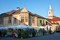 Buildings on the main square, Rust ( Hungarian: Ruszt ) on the Neusiedler See, Burgenland, Austria