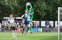 Dayle Southwell of Wycombe Wanderers puts Goalkeeper Carl Pentney of Maidenhead United under pressure during the Friendly match between Maidenhead United and Wycombe Wanderers at York Road, Maidenhead, England on 30 July 2016. Photo by Alan  Stanford PRiME Media Images.