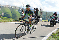 ITALIA. 09-05-2017. Nairo Quintana -COL- (Movistar team) durante la etapa 9 entre Montenero di Bisaccia a Blockhaus con 152 kms de la versión 100 del Giro de Italia hoy 14 de mayo de 2017. / Nairo Quintana -COL- (Movistar team) during stage 9 between Montenero di Bisaccia to Blockhaus with 152 kms of the 100 version of the Giro d'Italia today 14 May 2017 Photo: VizzorImage/  Gian Mattia D'Alberto / LaPresse<br /> VizzorImage PROVIDES THE ACCESS TO THIS PHOTOGRAPH ONLY AS A PRESS AND EDITORIAL SERVICE AND NOT IS THE OWNER OF COPYRIGHT; ANOTHER USE HAVE ADDITIONAL PERMITS AND IS  REPONSABILITY OF THE END USER