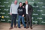Karra Elejalde, El Langui and Alain Hernández attends to the presentation of the film 'Que baje Dios y lo vea' at URSO Hotel in Madrid, Spain. December 19, 2017. (ALTERPHOTOS/Borja B.Hojas)