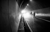 Mist for the breakaway group IN the Passo del Turchino tunnel (532m); the highest point of the race<br /> <br /> 109th Milano-Sanremo 2018<br /> Milano > Sanremo (291km)