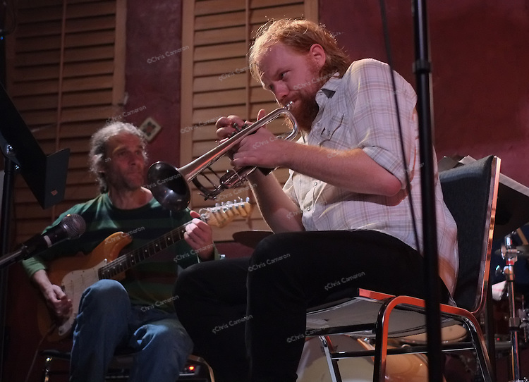 J P Carter with Tony Wilson -- A Day's Life Band at the Ironworks.