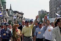 FILE -  Lucien Bouchard et Bernard Landry participent au defile de la Saint-Jean-Baptiste, circa 1996 (date inconnue)<br /> <br /> PHOTO  :  Agence Quebec Presse