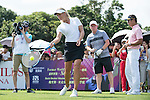 Suzann Pettersen plays tennis at the 10th hole during the World Celebrity Pro-Am 2016 Mission Hills China Golf Tournament on 22 October 2016, in Haikou, China. Photo by Marcio Machado / Power Sport Images