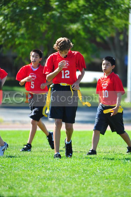 Sept. 17, 2011 - The PJFL Senior 49ers battle the Broncos in Pleasanton, California Saturday September 17, 2011.  (Photo by Alan Greth/AGP Photography).