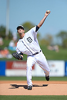 Detroit Tigers pitcher Drew Smyly (33) during a spring training game against the St. Louis Cardinals on March 3, 2014 at Joker Marchant Stadium in Lakeland, Florida.  Detroit defeated St. Louis 8-5.  (Mike Janes/Four Seam Images)