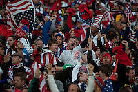 USA fans cheer after Landon Donovan's goal during the USA and Slovenia FIFA World Cup first round match at Ellis Park Stadium in Johannesburg, South Africa on Friday, June 18, 2010.  The USA tied Slovenia 2-2.