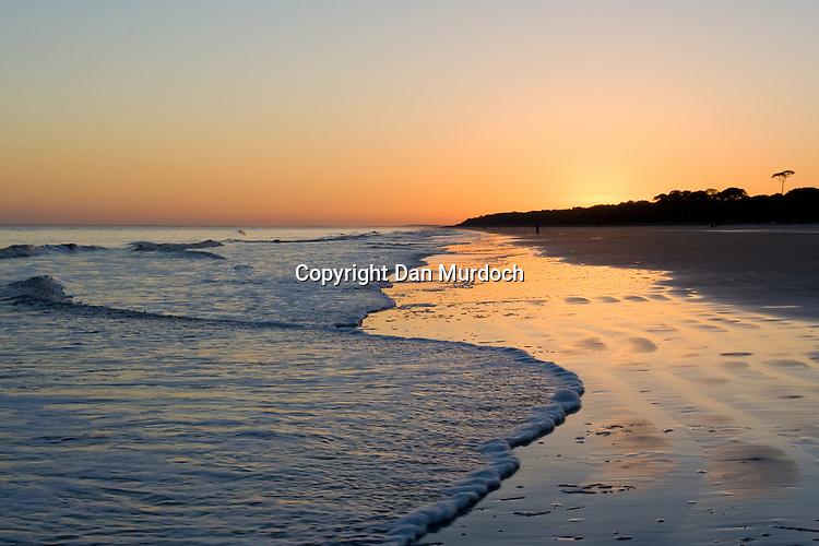 Beach sunset on Hilton Head Island