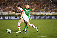 PASADENA, CALIFORNIA - August 03: Rose Lavelle #16, Jess Gargan #13 during their international friendly and the USWNT Victory Tour match between Ireland and the United States at the Rose Bowl on August 03, 2019 in Pasadena, CA.