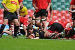 Martin Roberts  touches down. Neath V Pontypridd, Konica Minolta Cup Final 0508 © Ian  Cook, IJC Photography, www.ijcphotography.co.uk, iancook@ijcphotography.co.uk.