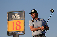 17th July 2021; Royal St Georges Golf Club, Sandwich, Kent, England; The Open Championship Golf, Day Three; Louis Oosthuizen (RSA) hits his driver from the 18th tee