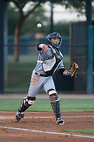 AZL White Sox catcher Ty Greene (26) throws to first base during an Arizona League game against the AZL Dodgers at Camelback Ranch on July 7, 2018 in Glendale, Arizona. The AZL Dodgers defeated the AZL White Sox by a score of 10-5. (Zachary Lucy/Four Seam Images)