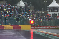29th August 2021; Spa Francorchamps, Stavelot, Belgium: FIA F1 Grand Prix of Belgium,  race day: The red flag, signal for stopped action due to stading water during the Formula 1 Belgium Grand Prix,