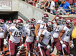 Texas A&M Aggies in action during the game between the Southern Methodist Mustangs and the Texas A&M Aggies at the Gerald J. Ford Stadium in Dallas, Texas. Texas A & M defeats SMU 48 to 3.
