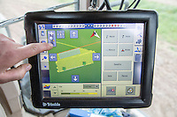 Trimble screen - using GPS and base station to produce accurate carrot beds - Nottinghamshire