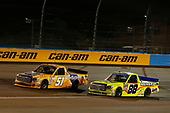 NASCAR Camping World Truck Series <br /> Lucas Oil 150<br /> Phoenix Raceway, Avondale, AZ USA<br /> Friday 10 November 2017<br /> Todd Gilliland, Pedigree Toyota Tundra and Matt Crafton, Ideal Door / Menards Toyota Tundra<br /> World Copyright: Russell LaBounty<br /> LAT Images