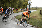 Newly crowned World Champion Anna Van der Breggen (NED) Boels Dolmans Cyclingteam in action during a wet Liege-Bastogne-Liege Femmes 2020, running 135km from Liege to Liege, Belgium. 4th October 2020.<br /> Picture: ASO/Thomas Maheux | Cyclefile<br /> All photos usage must carry mandatory copyright credit (© Cyclefile | ASO/Thomas Maheux)