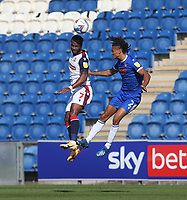 Bolton Wanderers' Nathan Delfouneso and Colchester United's Miles Welch-Hayes<br /> <br /> Photographer Rob Newell/CameraSport<br /> <br /> The EFL Sky Bet League Two - Colchester United v Bolton Wanderers - Saturday 19th September 2020 - Colchester Community Stadium - Colchester<br /> <br /> World Copyright © 2020 CameraSport. All rights reserved. 43 Linden Ave. Countesthorpe. Leicester. England. LE8 5PG - Tel: +44 (0) 116 277 4147 - admin@camerasport.com - www.camerasport.com