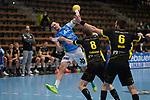 Nemanja Zelenovic (FAG) beim Wurf beim Spiel in der Handball Bundesliga, Frisch Auf Goeppingen - TVB 1898 Stuttgart.<br /> <br /> Foto © PIX-Sportfotos *** Foto ist honorarpflichtig! *** Auf Anfrage in hoeherer Qualitaet/Aufloesung. Belegexemplar erbeten. Veroeffentlichung ausschliesslich fuer journalistisch-publizistische Zwecke. For editorial use only.
