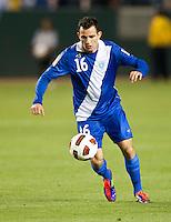 CARSON, CA – June 6, 2011: Guatemalan Marco Pappa (16) during the match between Guatemala and Honduras at the Home Depot Center in Carson, California. Final score Guatemala 0, Honduras 0.