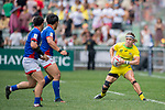 Australia vs South Korea during their Pool A match as part of the HSBC Hong Kong Rugby Sevens 2017 on 08 April 2017 in Hong Kong Stadium, Hong Kong, China. Photo by Weixiang Lim / Power Sport Images