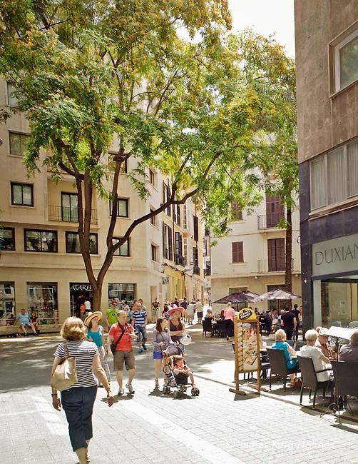 Daytime in the Plaça del Rosari in central Palma de Mallorca