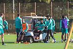13.10.2020, Trainingsgelaende am wohninvest WESERSTADION - Platz 12, Bremen, GER, 1.FBL, Werder Bremen Training<br /> <br /> Trinkpause<br /> Niclas Füllkrug / Fuellkrug (Werder Bremen #11)<br /> Davie Selke  (SV Werder Bremen #09)<br /> Ilia Gruev (Werder Bremen #28)<br /> <br /> <br /> Foto © nordphoto / Kokenge