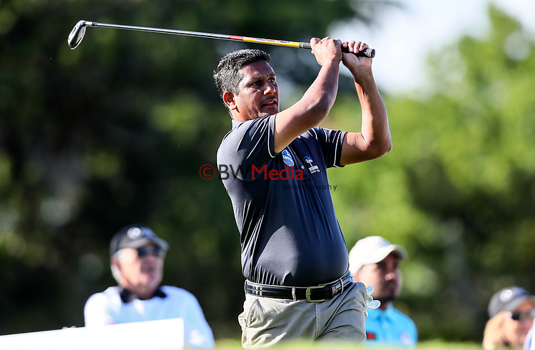 Abid Hussein of Fiji during the Asia Pacific Amateur Golf Championship Round Two, Royal Wellington Golf Course, Wellington, New Zealand, 27 October2017.  Photo: Simon Watts/www.bwmedia.co.nz