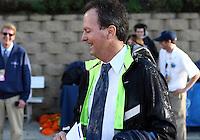 SAN DIEGO, CA - DECEMBER 02, 2012:  Anson Dorrance coach of the University of North Carolina after getting a Gatorade soaking against Penn State University during the NCAA 2012 women's college championship match, at Torero Stadium, in San Diego, CA, on Sunday, December 02 2012. Carolina won 4-1.