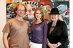 Tom Campbell & Amy Huberman, Noelle Campbell Sharpe at the  opening Tom Campbells exhibtion, at Urban Retreat Gallery, Dublin