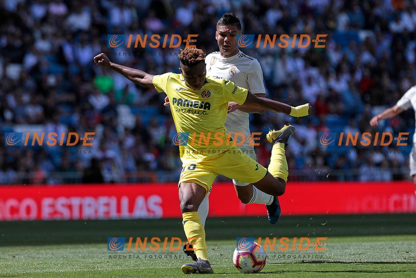 Villarreal CF's Chukwueze during La Liga match between Real Madrid and Villarreal CF at Santiago Bernabeu Stadium in Madrid, Spain. May 05, 2019. (ALTERPHOTOS/A. Perez Meca)<br /> Liga Campionato Spagna 2018/2019<br /> Foto Alterphotos / Insidefoto <br /> ITALY ONLY