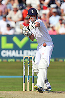 Graeme Swann in batting action for England - Essex CCC vs England - LV Challenge Match at the Essex County Ground, Chelmsford - 30/06/13 - MANDATORY CREDIT: Gavin Ellis/TGSPHOTO - Self billing applies where appropriate - 0845 094 6026 - contact@tgsphoto.co.uk - NO UNPAID USE