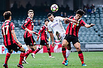 Auckland City Forward Ryan de Vries (c) fights for the ball with FC Seoul Defender Jung In Whan (r) during the 2017 Lunar New Year Cup match between Auckland City FC (NZL) vs FC Seoul (KOR) on January 28, 2017 in Hong Kong, Hong Kong. Photo by Marcio Rodrigo Machado/Power Sport Images
