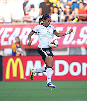 Sydney Leroux (2) of the USWNT controls the ball during an international friendly at the Florida Citrus Bowl in Orlando, FL.  The USWNT defeated Brazil, 4-1.
